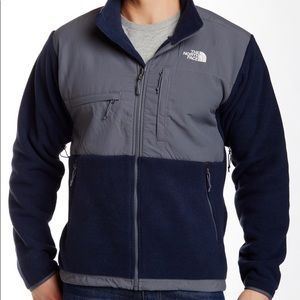 The North Face Mens Navy/Gray Denali Jacket